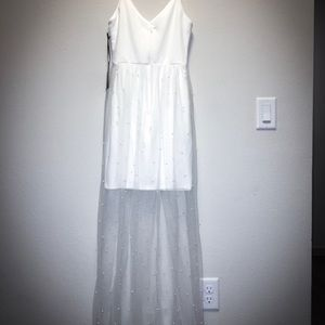 Lulus Lovin' You White Pearl Maxi Dress